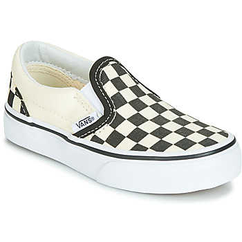 kengät Lapset Tennarit Vans CLASSIC SLIP-ON Black / White