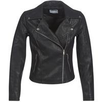 vaatteet Naiset Nahkatakit / Tekonahkatakit Noisy May NMREBEL Black