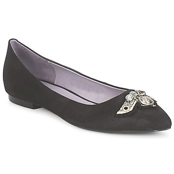 kengät Naiset Balleriinat Couleur Pourpre TIMEA Black