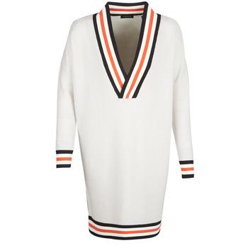 vaatteet Naiset Neulepusero Maison Scotch WHITE LONG SLEEVES White / Creme