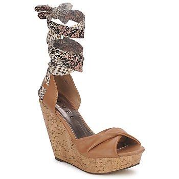 kengät Naiset Sandaalit ja avokkaat Ravel JEMMA Camel