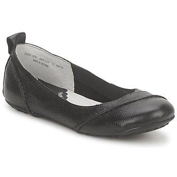 kengät Naiset Balleriinat Hush puppies JANESSA Musta