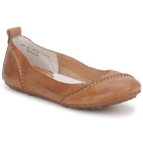 kengät Naiset Balleriinat Hush puppies JANESSA Brown