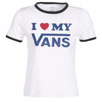 vaatteet Naiset Lyhythihainen t-paita Vans VANS LOVE RINGER White