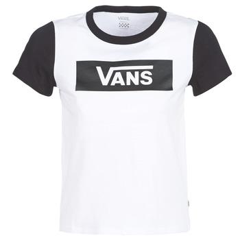 vaatteet Naiset Lyhythihainen t-paita Vans V TANGLE RANGE RINGER White