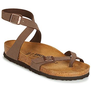 kengät Naiset Sandaalit ja avokkaat Birkenstock YARA Brown