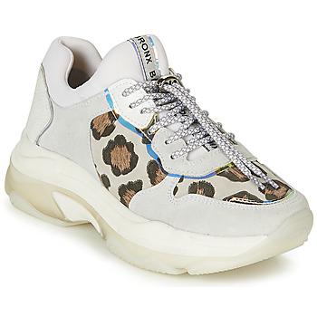 kengät Naiset Matalavartiset tennarit Bronx BAISLEY White / Leopardi