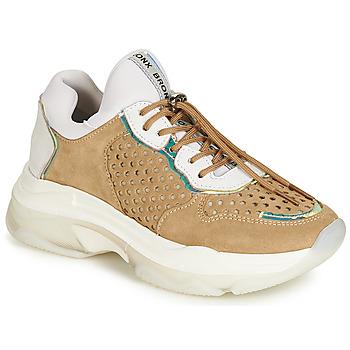 kengät Naiset Matalavartiset tennarit Bronx BAISLEY White / Brown