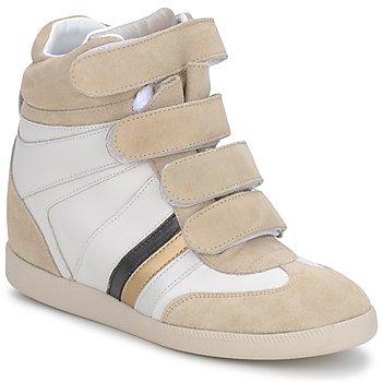 kengät Naiset Korkeavartiset tennarit Serafini MANATHAN SCRATCH Valkoinen-beige-sininen