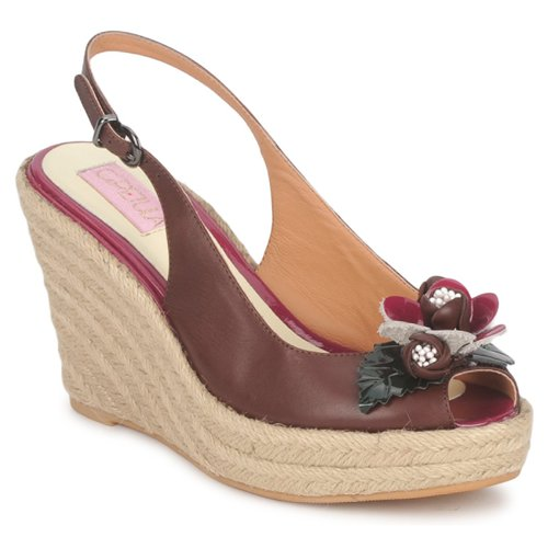 kengät Naiset Sandaalit ja avokkaat C.Petula GLORIA Brown / Fuksia