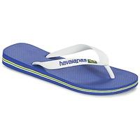 kengät Varvassandaalit Havaianas BRASIL LOGO White / Laivastonsininen