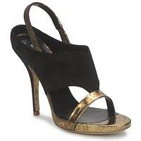 kengät Naiset Sandaalit ja avokkaat Gaspard Yurkievich T4 VAR7 Black / Kulta