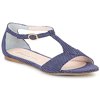 kengät Naiset Sandaalit ja avokkaat Paul & Joe Sister PERRY Laivastonsininen / White
