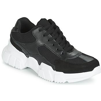 kengät Naiset Matalavartiset tennarit Yurban JILIBELLE Black / White
