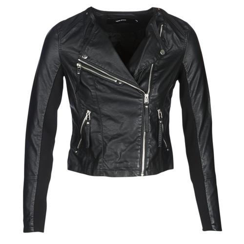 vaatteet Naiset Nahkatakit / Tekonahkatakit Vero Moda VMRIA FAV Black