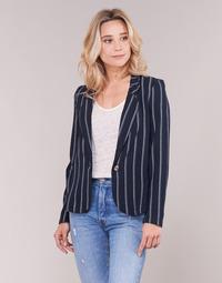vaatteet Naiset Takit / Bleiserit Vero Moda VMANNA White / Laivastonsininen