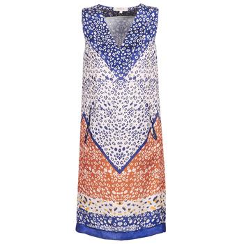 vaatteet Naiset Lyhyt mekko Derhy FORTERESSE White / Blue / Orange