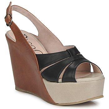 kengät Naiset Sandaalit ja avokkaat Paco Gil RITMO SELV Kamelinruskea / Musta