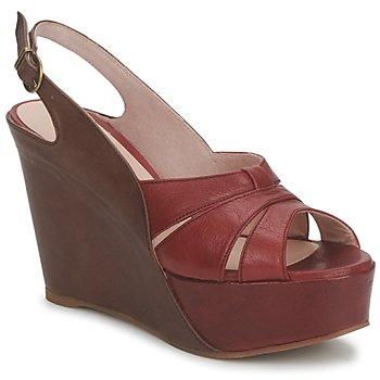 kengät Naiset Sandaalit ja avokkaat Paco Gil RITMO SELV Kamelinruskea / Viininpunainen