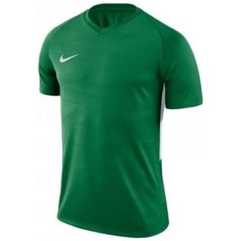 vaatteet Miehet Lyhythihainen t-paita Nike Dry Tiempo Prem Jsy Vihreät