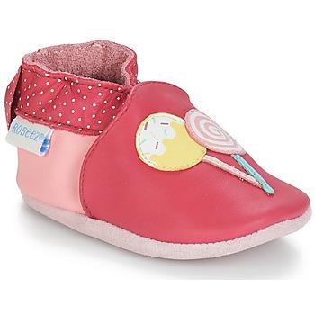kengät Tytöt Vauvan tossut Robeez FUNNY SWEETS Pink / White