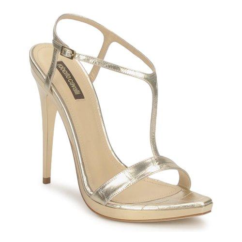 kengät Naiset Sandaalit ja avokkaat Roberto Cavalli RDS736 Kulta
