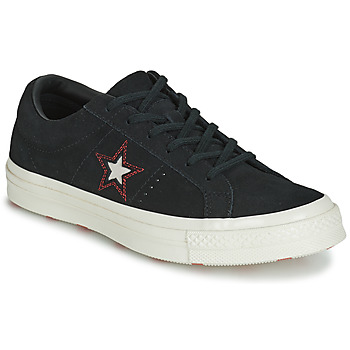 kengät Naiset Matalavartiset tennarit Converse ONE STAR LOVE IN THE DETAILS SUEDE OX Black