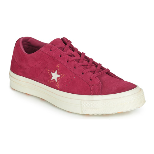 kengät Naiset Matalavartiset tennarit Converse ONE STAR LOVE IN THE DETAILS SUEDE OX Fuksia