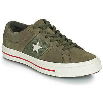 kengät Naiset Matalavartiset tennarit Converse ONE STAR CUIR FASHION BALLER SUEDE OX Kaki