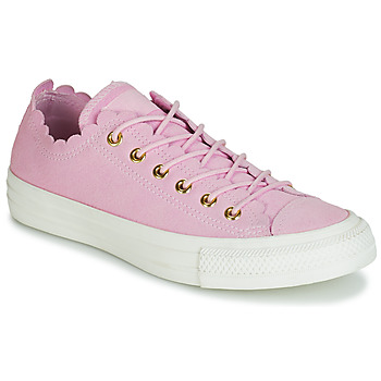 kengät Naiset Matalavartiset tennarit Converse CHUCK TAYLOR ALL STAR FRILLY THRILLS SUEDE OX Pink