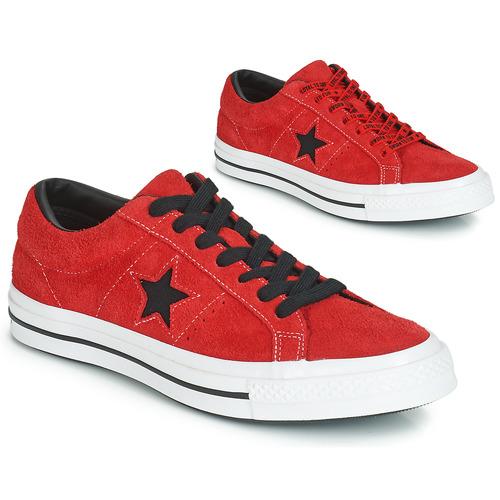 kengät Matalavartiset tennarit Converse ONE STAR DARK STAR VINTAGE SUEDE OX Red