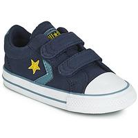 kengät Pojat Matalavartiset tennarit Converse STAR PLAYER 2V CANVAS OX Blue