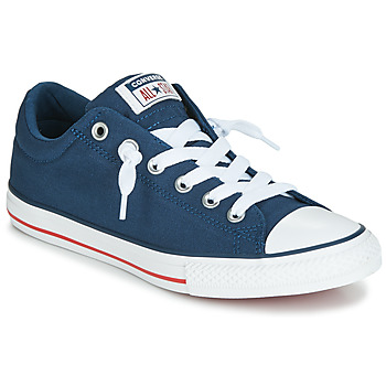 info for 4e9c5 bf211 kengät Lapset Matalavartiset tennarit Converse CHUCK TAYLOR ALL STAR STREET  CANVAS OX Blue