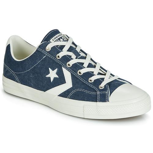 kengät Miehet Matalavartiset tennarit Converse STAR PLAYER SUN BACKED OX Laivastonsininen