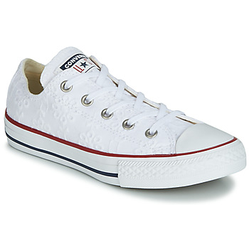 kengät Tytöt Matalavartiset tennarit Converse CHUCK TAYLOR ALL STAR BROADERIE ANGLIAS OX White