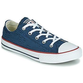 kengät Tytöt Matalavartiset tennarit Converse CHUCK TAYLOR ALL STAR BROADERIE ANGLIAS OX Laivastonsininen