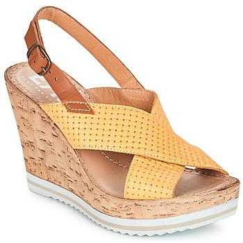 kengät Naiset Sandaalit ja avokkaat Elue par nous EMPIRE Yellow