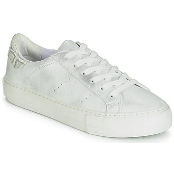 kengät Naiset Matalavartiset tennarit No Name ARCADE White / Hopea