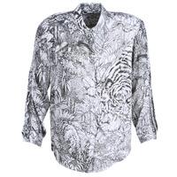 vaatteet Naiset Paitapusero / Kauluspaita Ikks BN12085-11 White / Black