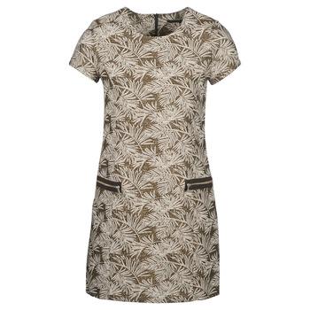vaatteet Naiset Pitkä mekko Ikks BN30165-65 Kaki / Beige