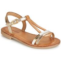 kengät Tytöt Sandaalit ja avokkaat Les Tropéziennes par M Belarbi BADA Kulta / White