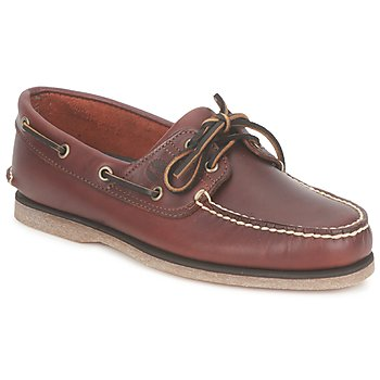 kengät Miehet Purjehduskengät Timberland CLASSIC 2 EYE Musta / Valkoinen / Smooth