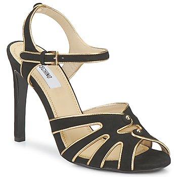 kengät Naiset Sandaalit ja avokkaat Moschino MA1604 Musta