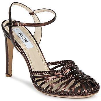 kengät Naiset Sandaalit ja avokkaat Moschino MA1603 Ebano