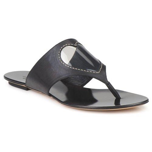 kengät Naiset Varvassandaalit Moschino Cheap & CHIC CALOTROPIS Black