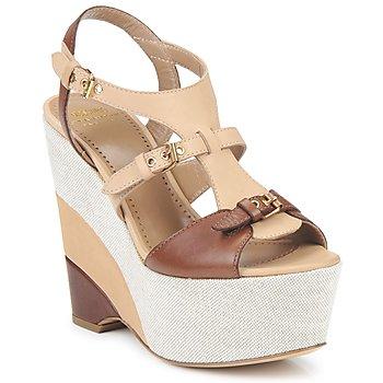 kengät Naiset Sandaalit ja avokkaat Moschino Cheap & CHIC STERLIZIA Beige-ruskea
