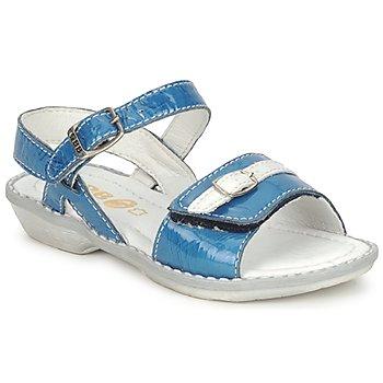kengät Tytöt Sandaalit ja avokkaat GBB CARAIBES FIZZ Blue / White