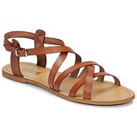kengät Naiset Sandaalit ja avokkaat So Size IDITRON Brown
