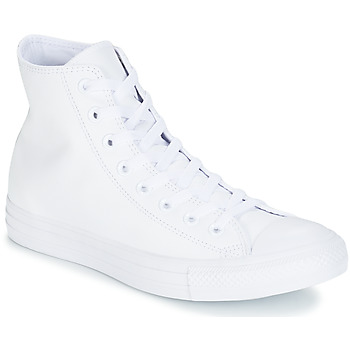 kengät Korkeavartiset tennarit Converse ALL STAR MONOCHROME CUIR HI White