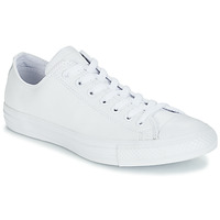 kengät Matalavartiset tennarit Converse ALL STAR MONOCHROME CUIR OX White